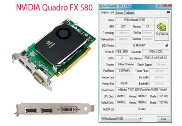 Quadro Nvidia FX 580