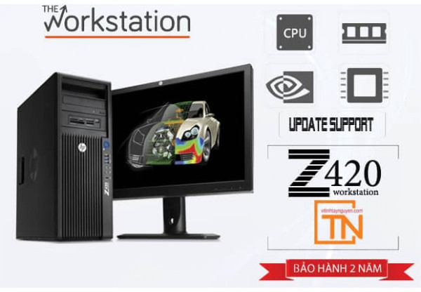 Máy trạm HP Z420 Workstation Xeon E5-2620 /16Gb/Ssd 120Gb/ Quadro 400