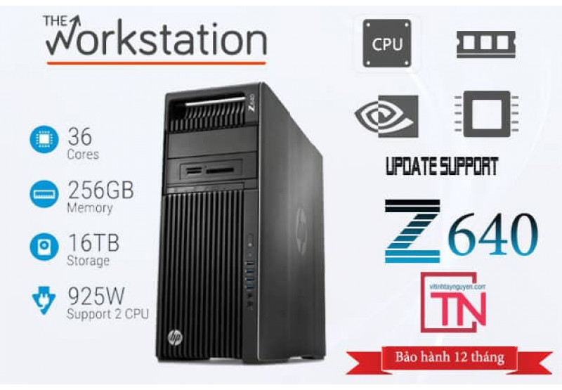 Máy Trạm HP Z640 Workstation 2 Xeon E5-2623 v3 32g Quadro  K4000